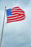 Bandiera degli Stati Uniti in Liberty Park 9/11 di memoriale Fotografia Stock