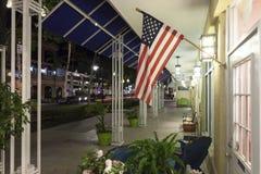 Bandiera degli Stati Uniti a Napoli, Florida fotografia stock