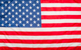 Bandiera degli Stati Uniti U.S.A. Fotografia Stock Libera da Diritti