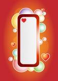 Bandiera dei bubles di amore Fotografie Stock Libere da Diritti