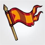 Bandiera dei cavalieri Immagine Stock