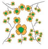 Bandiera dei fiori Background illustrazione vettoriale