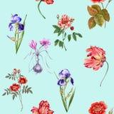 Bandiera dei fiori Background Reticolo senza giunte Fotografia Stock Libera da Diritti