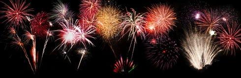 Bandiera dei fuochi d'artificio Immagini Stock Libere da Diritti
