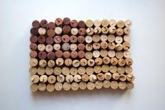 Bandiera dei sugheri del vino della composizione di U.S.A. Fotografia Stock