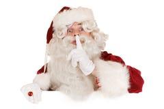 Bandiera del Babbo Natale Fotografie Stock