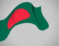 Bandiera del Bangladesh su fondo trasparente illustrazione vettoriale