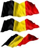 Bandiera del Belgio Immagine Stock