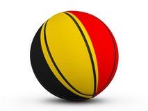 Bandiera del Belgio della palla di pallacanestro Immagini Stock Libere da Diritti