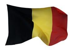 Bandiera del Belgio, isolata su bianco Fotografie Stock Libere da Diritti