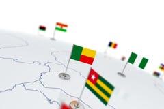 Bandiera del Benin Immagini Stock Libere da Diritti
