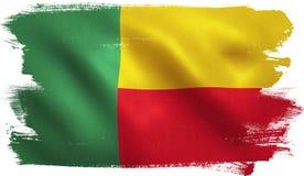Bandiera del Benin Fotografie Stock