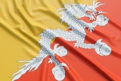 Bandiera del Bhutan Fotografie Stock Libere da Diritti