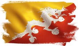 Bandiera del Bhutan Immagini Stock