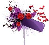 Bandiera del biglietto di S. Valentino Fotografie Stock