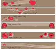 Bandiera del biglietto di S. Valentino Immagine Stock Libera da Diritti