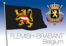 Bandiera del Brabante Fiammingo, Belgio Fotografia Stock Libera da Diritti