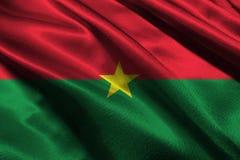 Bandiera del Burkina Faso, simbolo dell'illustrazione della bandiera nazionale 3D del Burkina Faso Fotografia Stock Libera da Diritti