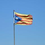 Bandiera del catalano Fotografia Stock