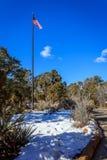 Bandiera del cielo blu fotografie stock libere da diritti