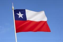 Bandiera del Cile - il Sudamerica Fotografia Stock Libera da Diritti
