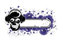 Bandiera del cranio di Grunge Fotografie Stock