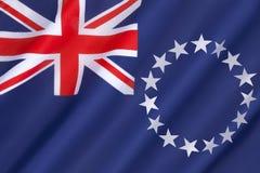 Bandiera del cuoco Islands Fotografia Stock Libera da Diritti