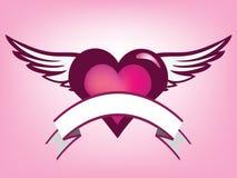 Bandiera del cuore Fotografia Stock Libera da Diritti