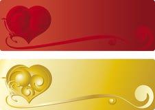 Bandiera del cuore Immagini Stock Libere da Diritti