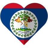 Bandiera del cuore di Belize Immagini Stock