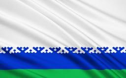 Bandiera del distretto autonomo di Nenets, Federazione Russa illustrazione vettoriale