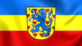 Bandiera del distretto di Gifhorn, Germania Fotografia Stock