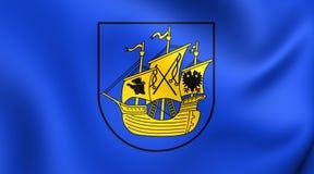 Bandiera del distretto di Wittmund, Germania Fotografia Stock