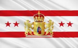 Bandiera del Drenthe dei Paesi Bassi immagine stock libera da diritti