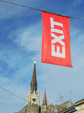Bandiera del festival di musica dell'USCITA Immagini Stock