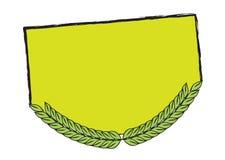 Bandiera del foglio Fotografie Stock