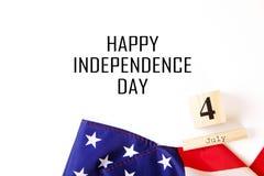 Bandiera del fondo degli Stati Uniti d'America per la celebrazione federale nazionale di festa della festa dell'indipendenza Symb Immagine Stock Libera da Diritti