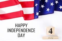 Bandiera del fondo degli Stati Uniti d'America per la celebrazione federale nazionale di festa della festa dell'indipendenza Symb Immagini Stock Libere da Diritti