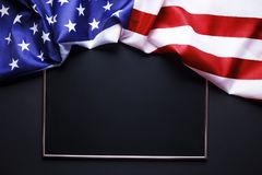 Bandiera del fondo degli Stati Uniti d'America per la celebrazione federale nazionale di feste e la giornata della memoria di dol fotografia stock libera da diritti