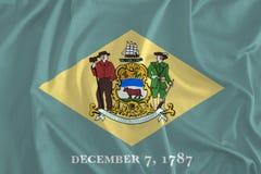 Bandiera del fondo del Delaware, First State royalty illustrazione gratis