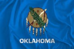 Bandiera del fondo di Oklahoma, più presto stato, America indigena illustrazione vettoriale
