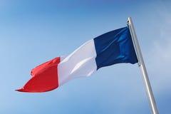 Bandiera del francese Fotografie Stock