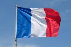 Bandiera del francese Immagine Stock Libera da Diritti