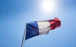 Bandiera del francese Fotografia Stock Libera da Diritti