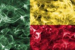 Bandiera del fumo del Benin Fotografia Stock