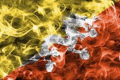 Bandiera del fumo del Bhutan Immagine Stock Libera da Diritti