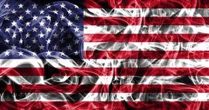 Bandiera del fumo degli Stati Uniti d'America, bandiera americana, bandiera di U.S.A. fotografia stock libera da diritti