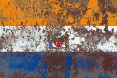 Bandiera del fumo della città di Albany, nuovo stato di Yor, Stati Uniti d'America immagini stock libere da diritti