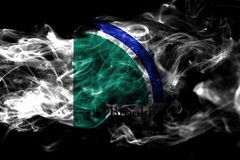 Bandiera del fumo della città di Brooklyn Park, stato del Minnesota, Stati Uniti di royalty illustrazione gratis