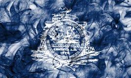 Bandiera del fumo della città di Charleston, Carolina State del sud, Stati Uniti Fotografia Stock